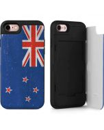 New Zealand Flag Distressed iPhone 7 Wallet Case