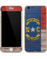 North Carolina Flag Dark Wood iPhone 6/6s Skin