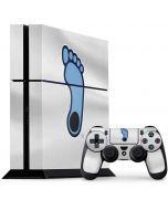 North Carolina Tar Heel Footprint Logo PS4 Console and Controller Bundle Skin