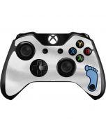 North Carolina Tar Heel Footprint Logo Xbox One Controller Skin