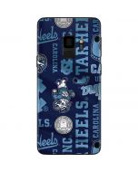 North Carolina Tar Heels Print Galaxy S9 Skin