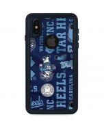 North Carolina Tar Heels Print iPhone X Waterproof Case