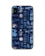 North Carolina Tar Heels Print iPhone XS Max Skin