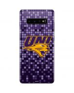 Northern Iowa Checkered Galaxy S10 Plus Skin