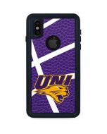 Northern Iowa Panthers Leather iPhone XS Waterproof Case