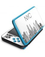 NYC Sketchy Cityscape 2DS XL (2017) Skin