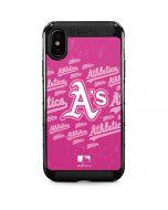 Oakland Athletics - Pink Cap Logo Blast iPhone XS Max Cargo Case