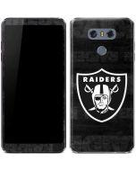 Oakland Raiders Black & White LG G6 Skin