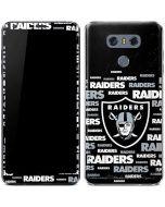 Oakland Raiders Black Blast LG G6 Skin