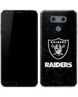 Oakland Raiders Distressed LG G6 Skin