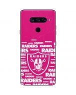 Oakland Raiders Pink Blast LG V40 ThinQ Skin