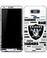 Oakland Raiders Silver Blast LG G6 Skin