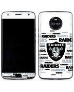 Oakland Raiders Silver Blast Moto X4 Skin