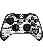 Oakland Raiders Silver Blast Xbox One Controller Skin