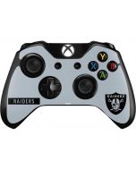 Oakland Raiders Silver Performance Series Xbox One Controller Skin