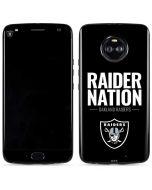 Oakland Raiders Team Motto Moto X4 Skin