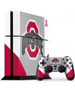 Ohio State Breast Cancer PS4 Console and Controller Bundle Skin