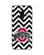 Ohio State Chevron Print Galaxy S9 Skin