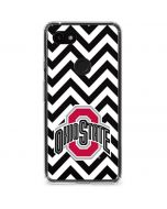 Ohio State Chevron Print Google Pixel 3a Clear Case