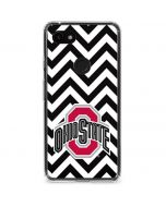 Ohio State Chevron Print Google Pixel 3a XL Clear Case