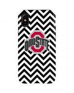 Ohio State Chevron Print iPhone X Pro Case