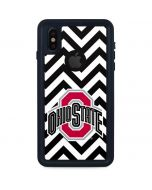 Ohio State Chevron Print iPhone X Waterproof Case