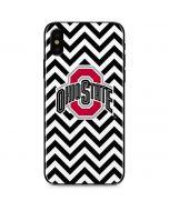Ohio State Chevron Print iPhone XS Max Skin