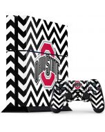 Ohio State Chevron Print PS4 Console and Controller Bundle Skin