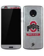 Ohio State Distressed Logo Moto G6 Skin