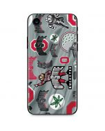 Ohio State Pattern iPhone XR Skin