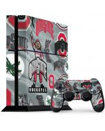 Ohio State Pattern PS4 Console and Controller Bundle Skin