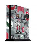 Ohio State Pattern PS4 Console Skin