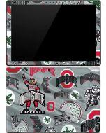 Ohio State Pattern Surface Pro 4 Skin
