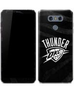 Oklahoma City Thunder Black Animal Print LG G6 Skin