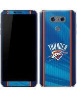 Oklahoma City Thunder Blue Jersey LG G6 Skin