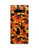 Orange Camo Galaxy S10 Plus Skin