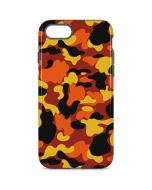 Orange Camo iPhone 8 Pro Case
