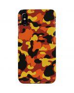 Orange Camo iPhone XS Max Lite Case