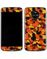 Orange Camo Moto X4 Skin