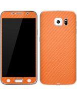 Orange Carbon Fiber Galaxy S6 Skin