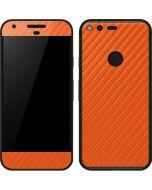 Orange Carbon Fiber Google Pixel Skin