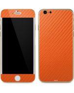Orange Carbon Fiber iPhone 6/6s Skin