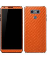 Orange Carbon Fiber LG G6 Skin