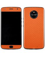 Orange Carbon Fiber Moto X4 Skin