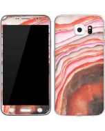 Orange Watercolor Geode Galaxy S6 Skin