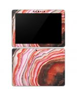 Orange Watercolor Geode Surface Go Skin