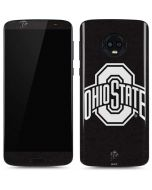 OSU Ohio State Black Moto G6 Skin