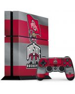 OSU Ohio State Buckeyes Flag PS4 Console and Controller Bundle Skin