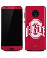 OSU Ohio State Buckeyes Red Logo Moto G6 Skin