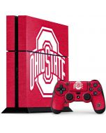 OSU Ohio State Buckeyes Red Logo PS4 Console and Controller Bundle Skin